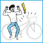 駐輪場での自転車盗難